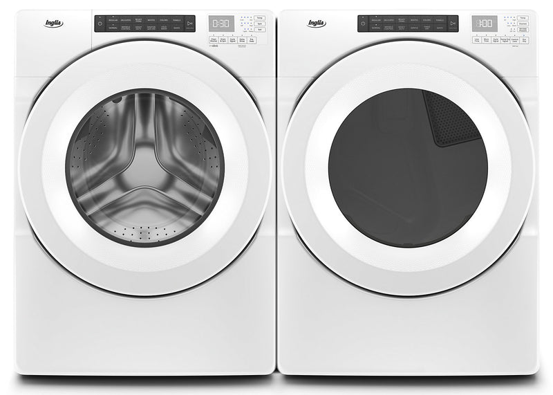 Inglis® 5.0 Cu. Ft. Closet-Depth Front-Load Washer and 7.4 Cu. Ft. Electric Dryer with Intuitive Touch Controls