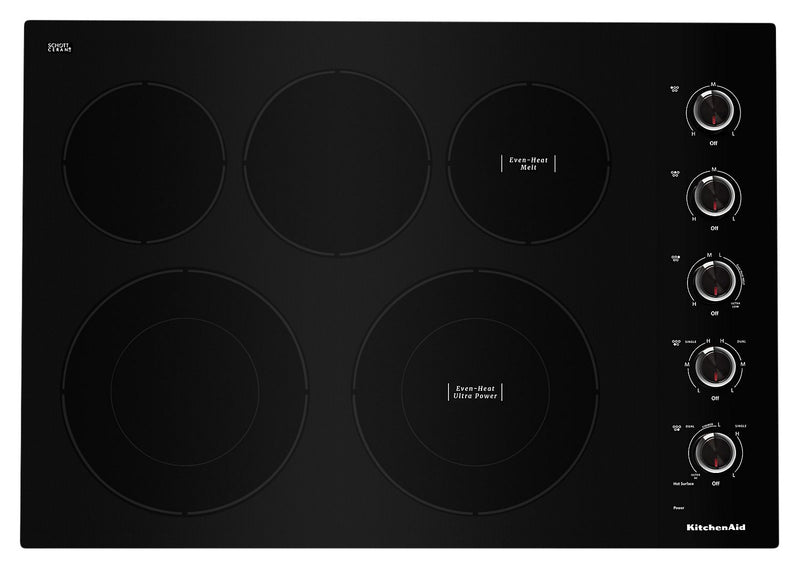 "KitchenAid 30"" Electric Cooktop with Ultra Power Element - KCES550HBL"