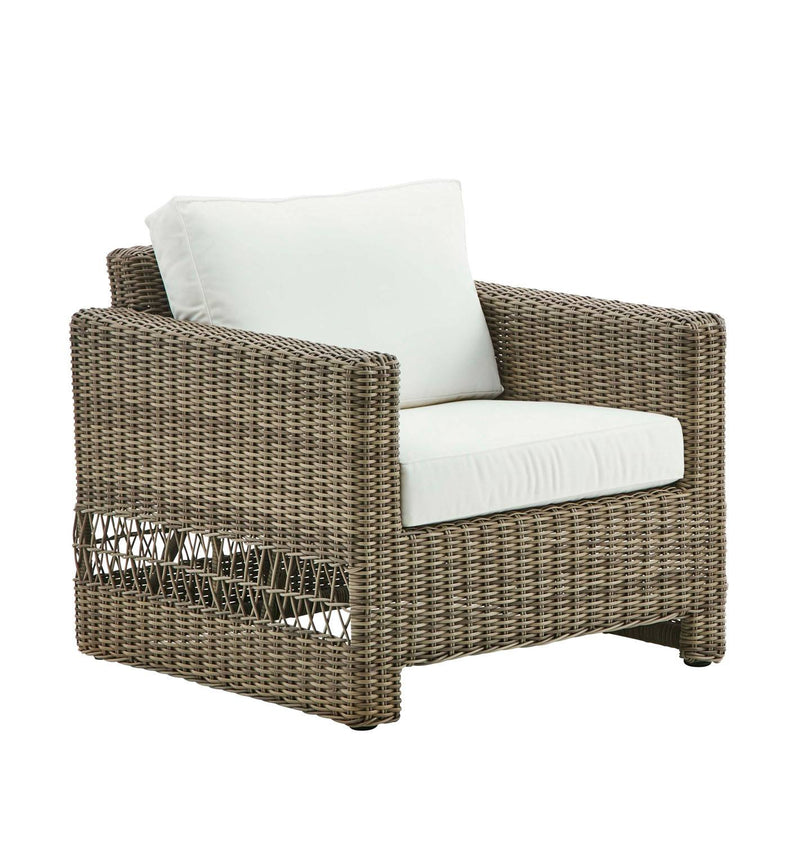 Riberalta Outdoor Accent Chair - Light Brown / White