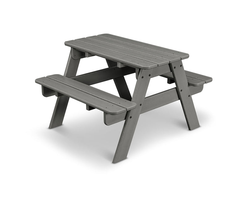 POLYWOOD® Kids Picnic Table in Slate Grey