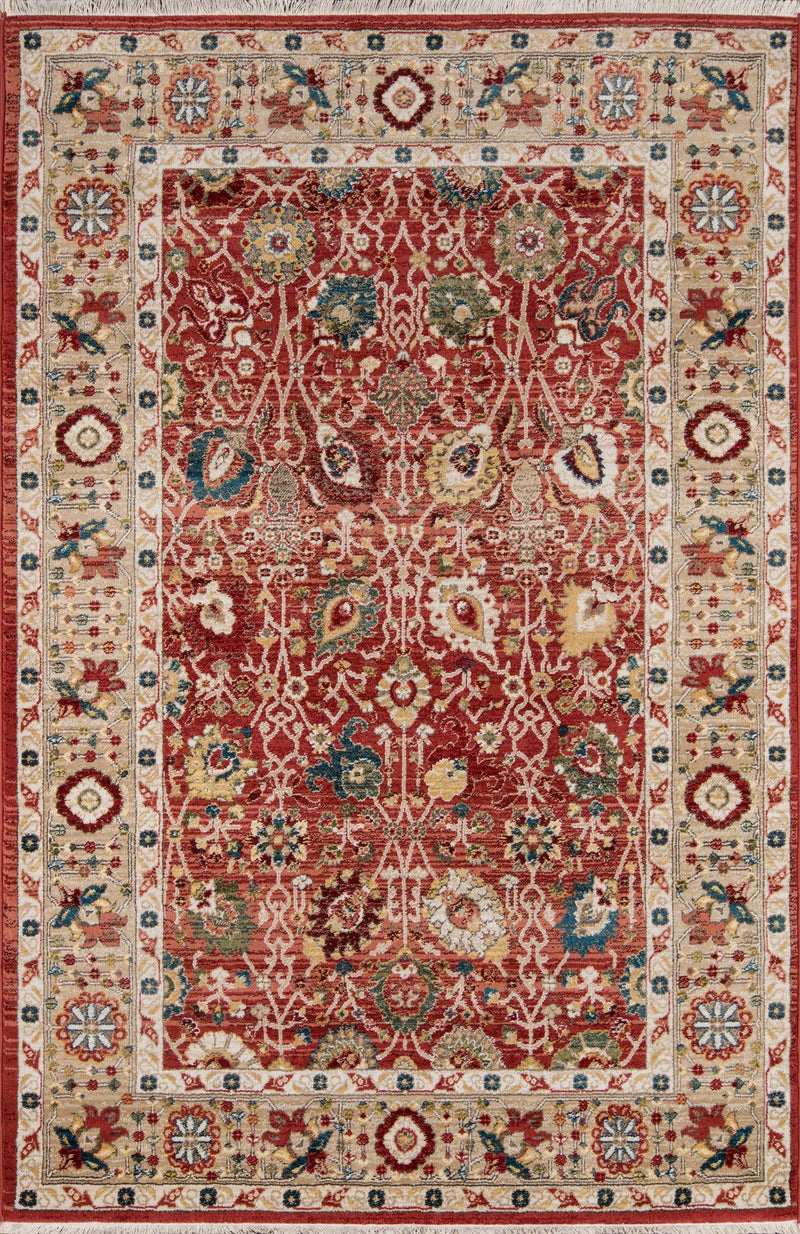 "Marta - IV, 5' x 7'5"" - Red Area Rug"