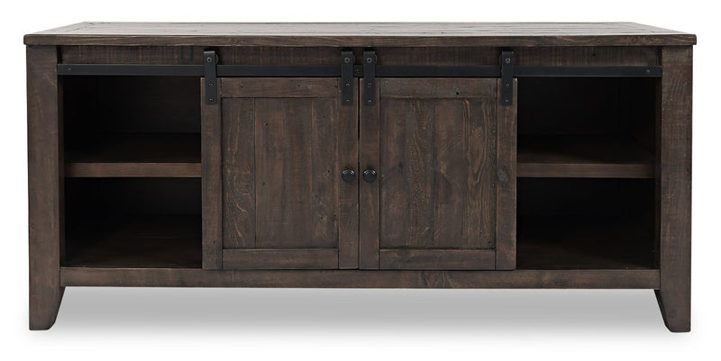 "Ahna 60"" Barn Door TV Stand – Brown"