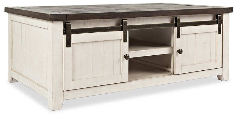 Ahna Barn Door Coffee Table – White