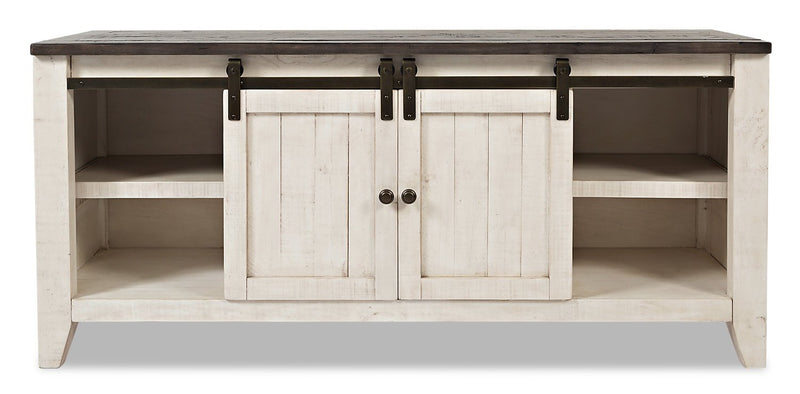 "Ahna 60"" Barn Door TV Stand – White"