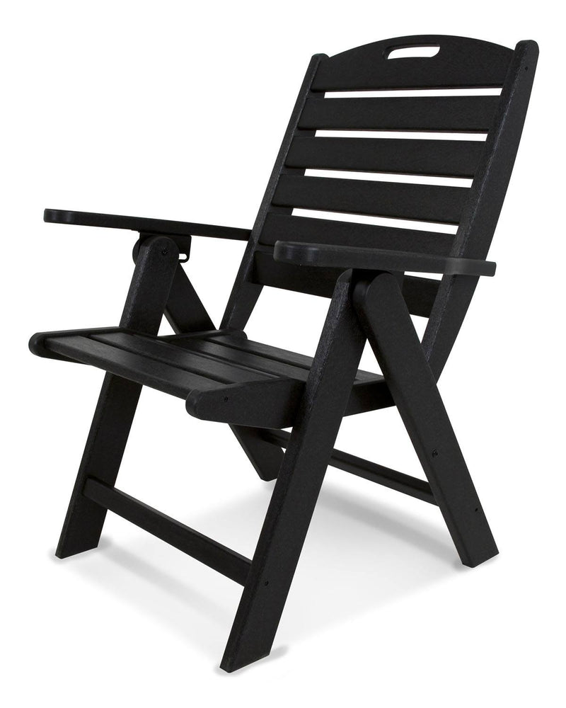 POLYWOOD® Nautical Highback Chair in Black