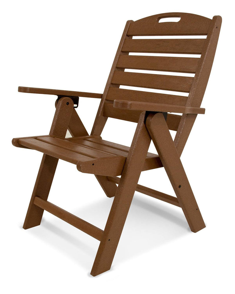 POLYWOOD® Nautical Highback Chair in Teak