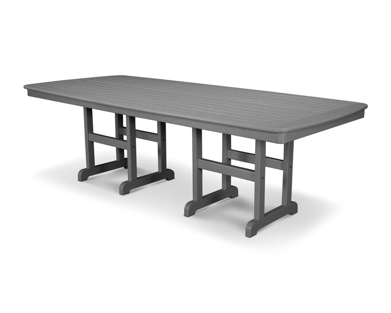 "POLYWOOD® Nautical 37"" x 72"" Dining Table in Slate Grey"