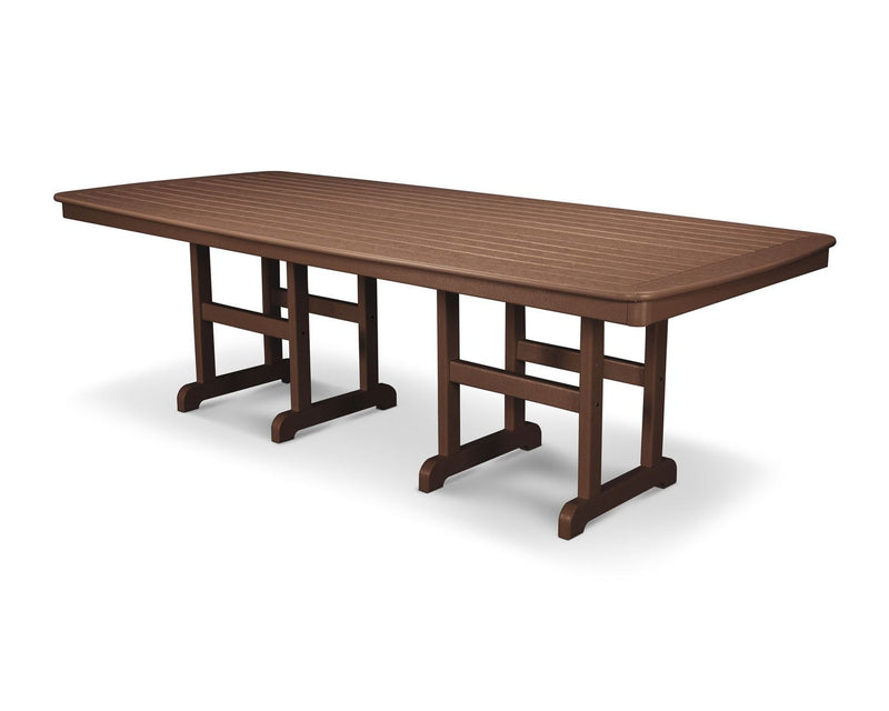 "POLYWOOD® Nautical 37"" x 72"" Dining Table in Mahogany"
