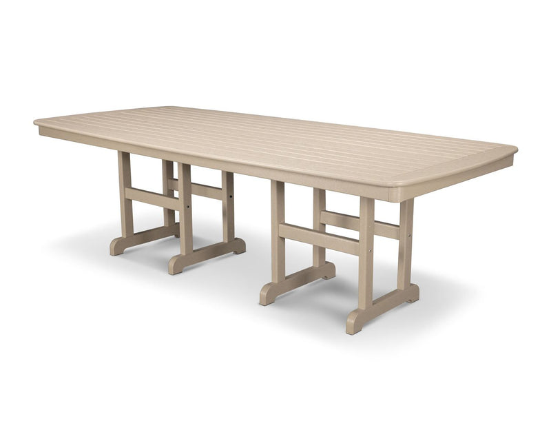 "POLYWOOD® Nautical 37"" x 72"" Dining Table in Sand"