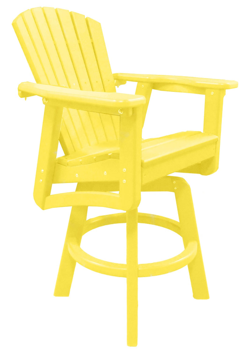 Sunset Views Bar Height Swivel Chair - Yellow