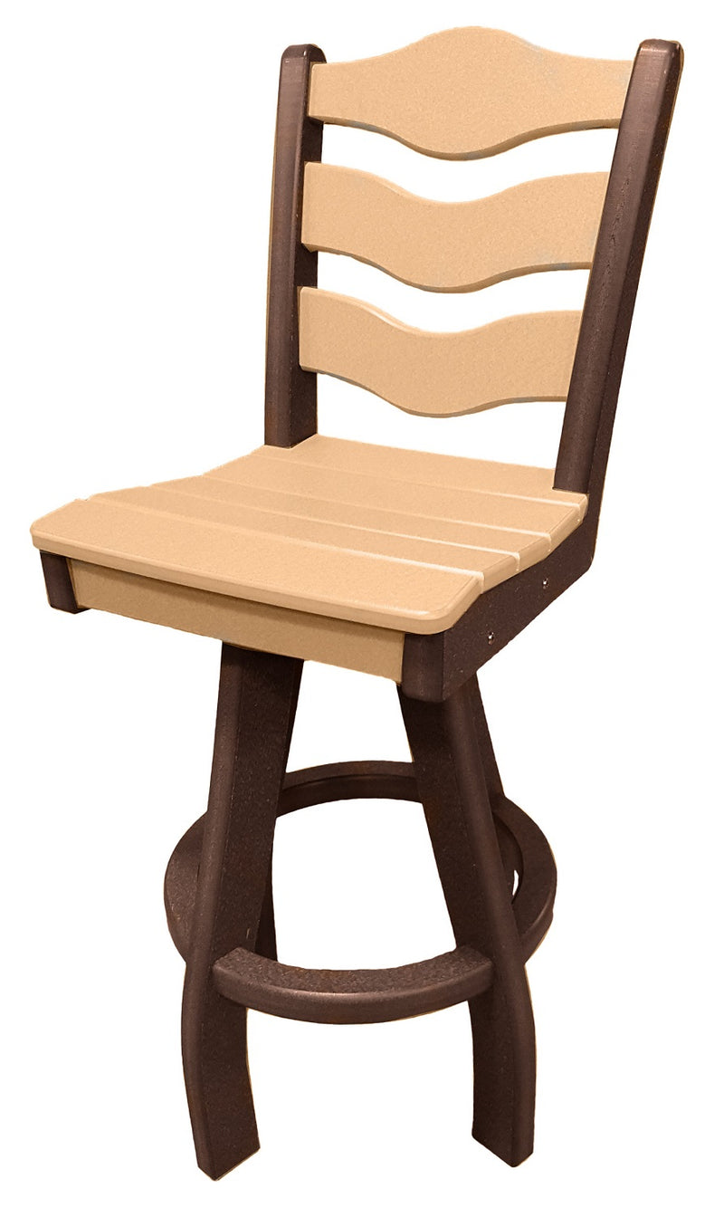 Sun n Sand Swivel Bar Chair - Camel/Mocha