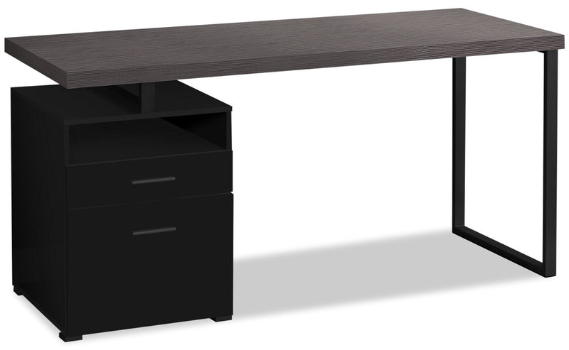 "Patola 60"" Computer Desk with Two Drawers"
