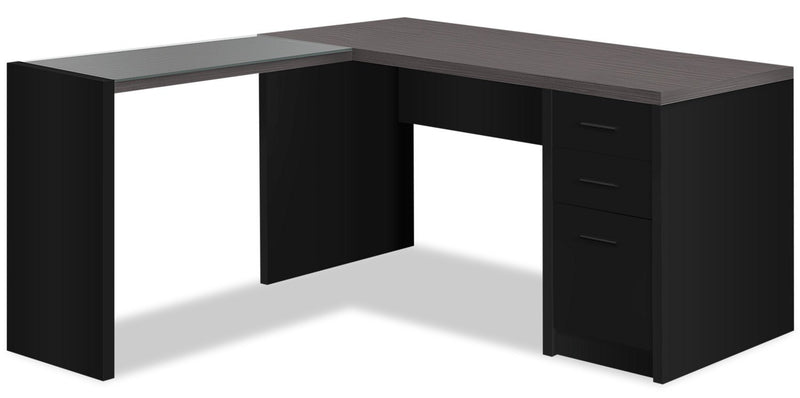 Patola Computer Desk with Tempered Glass