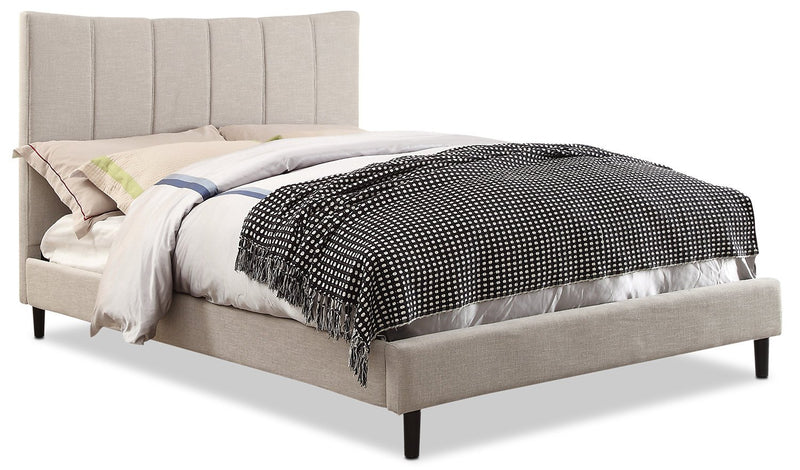 Caterina King Platform Bed – Taupe