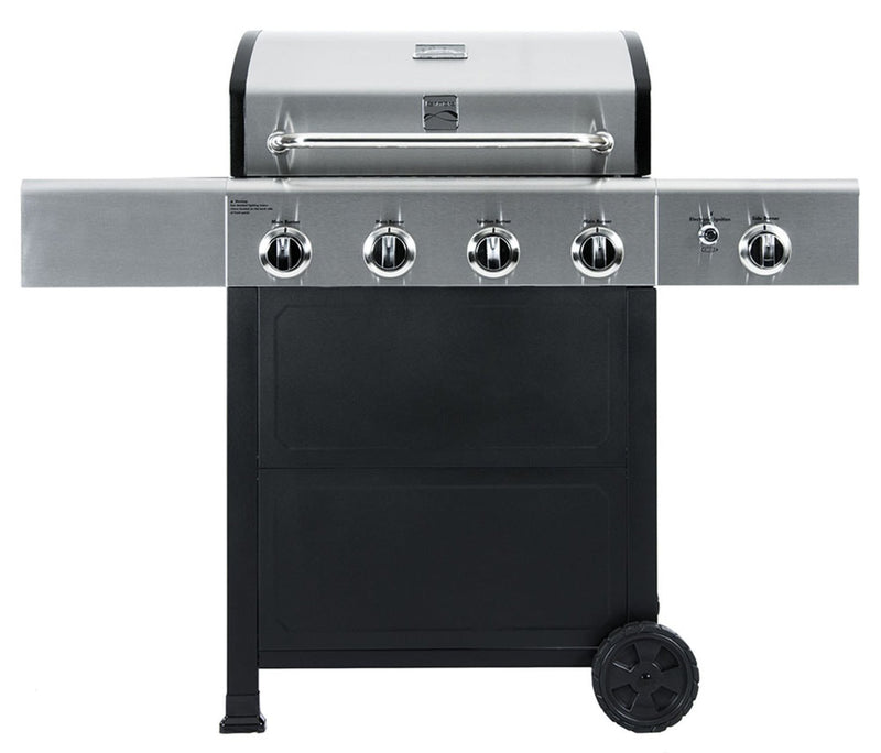Kenmore 4 Burner Grill plus Side Burner with Stainless Steel Lid