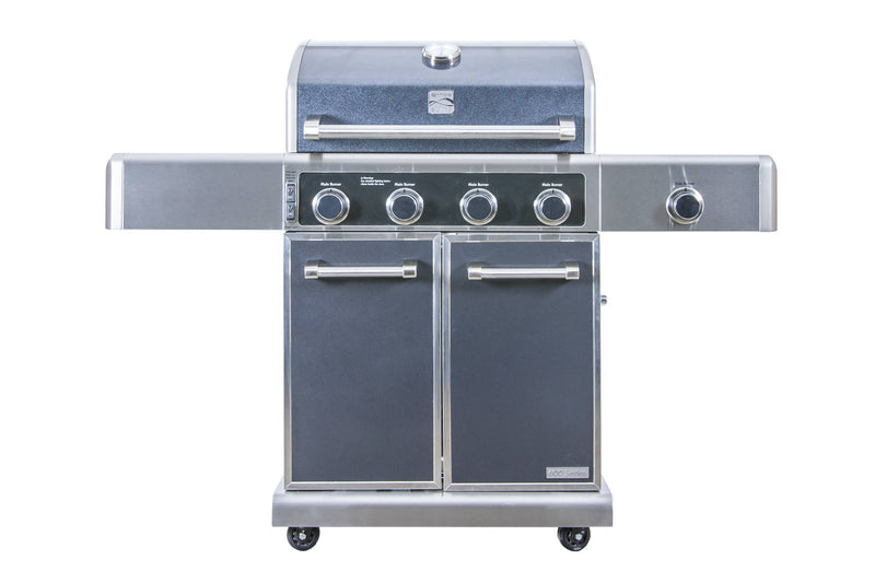 Kenmore Elite 4 Burner Grill with Side Burner - Metallic Gun Metal