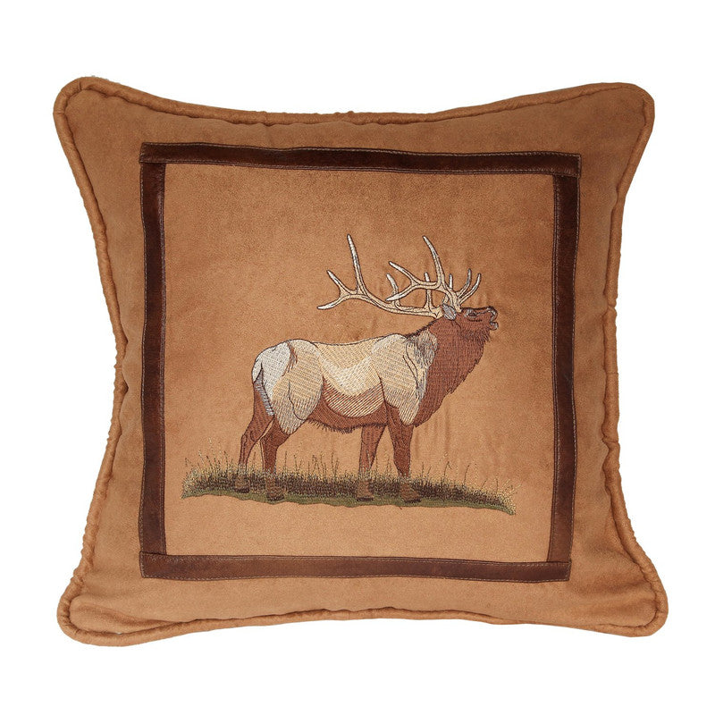 Ocotal Moose Faux Suede Decorative Pillow Tan Furniture Ca