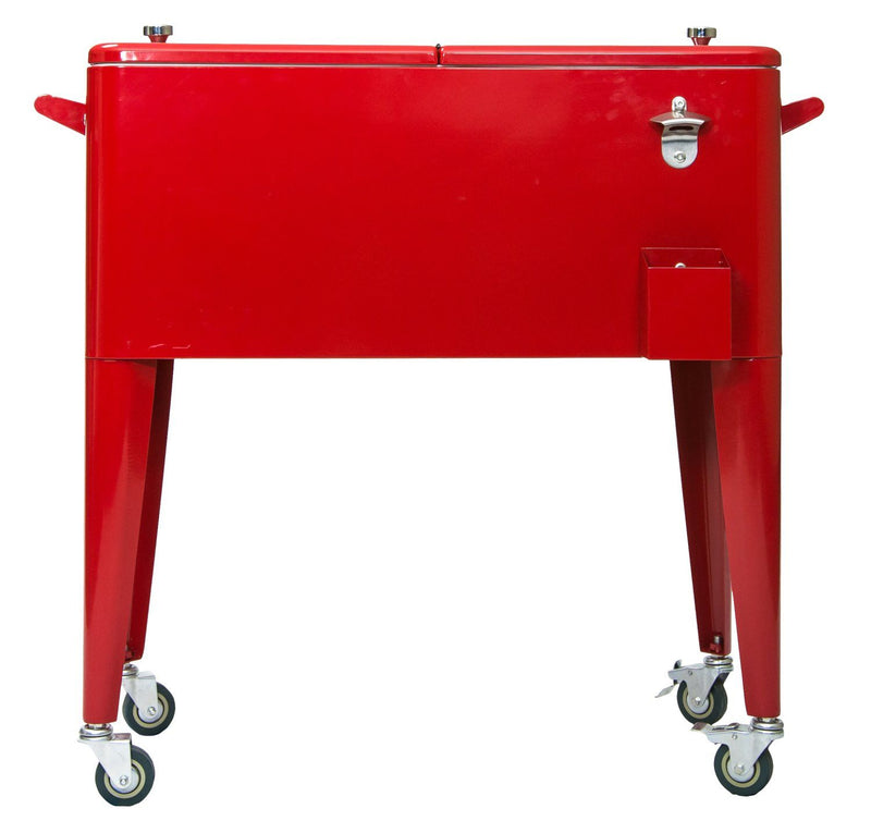 Permasteel 80QT Patio Cooler - Red