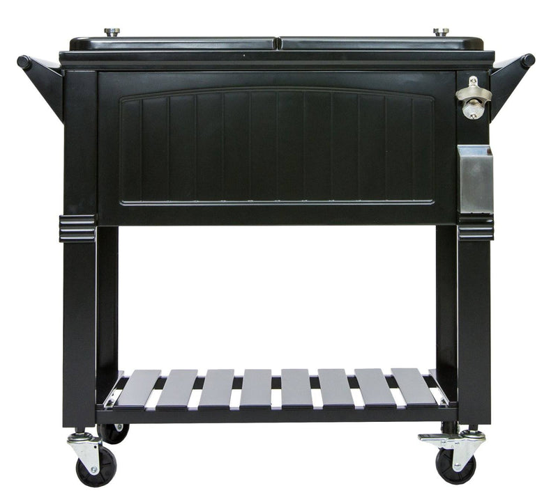 Permasteel 80Qt Furniture Style Patio Cooler - Black