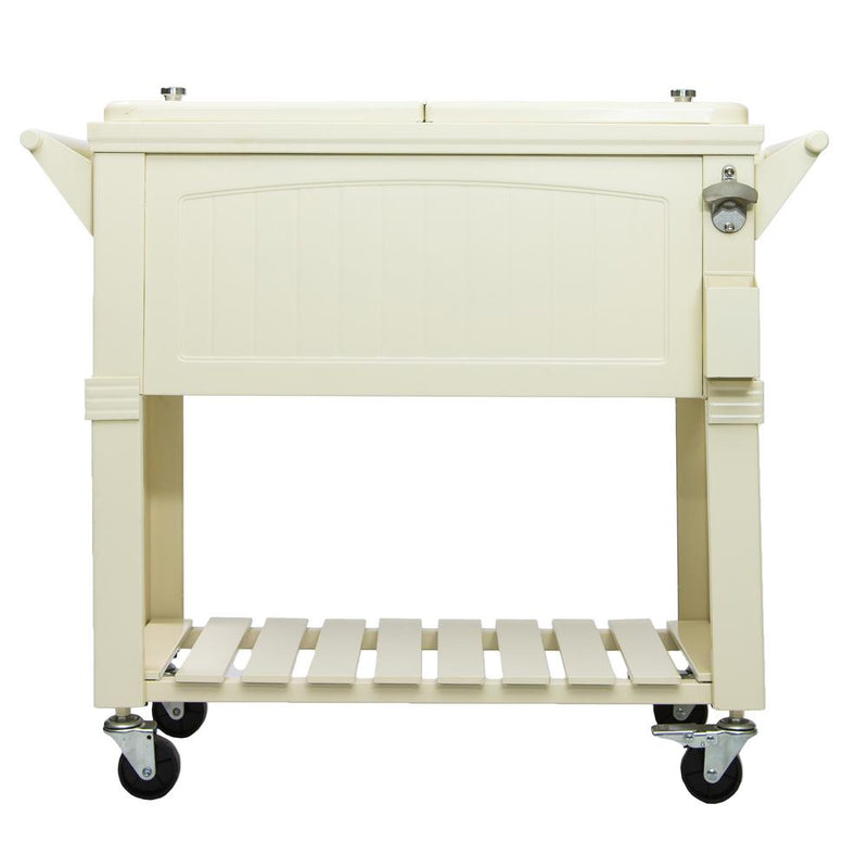 Permasteel 80Qt Furniture Style Patio Cooler - Cream