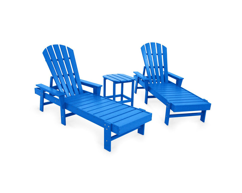POLYWOOD® South Beach Chaise 3-Piece Set in Pacific Blue