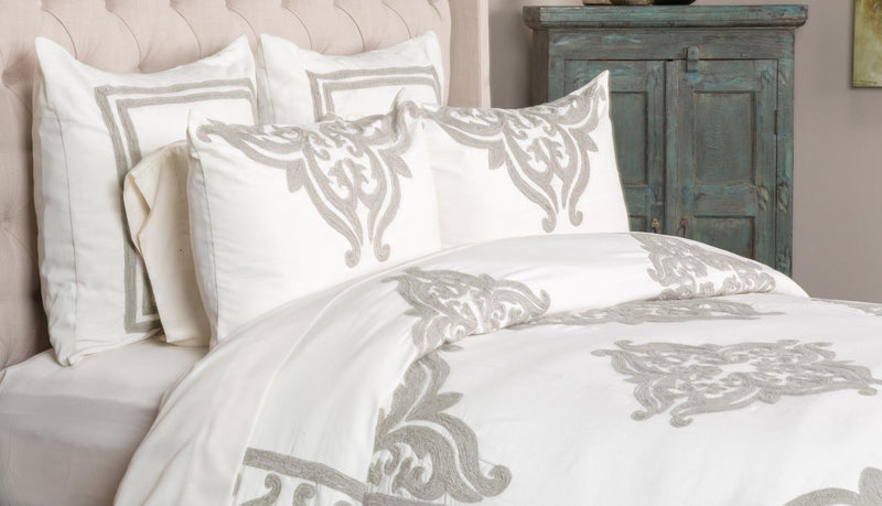 Lavita Queen Duvet Cover - Ivory