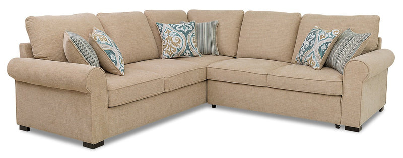 Solera 2-Piece Fabric Right-Facing Sleeper Sectional - Taupe