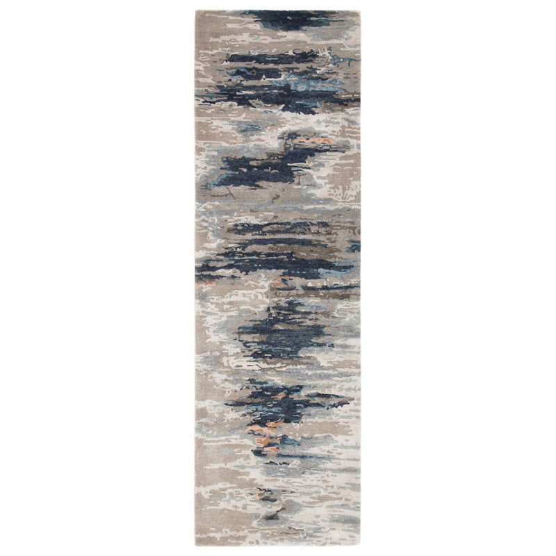 Ptolemaios XII Area Rug - 3' X 8' Runner - Blue/Pink