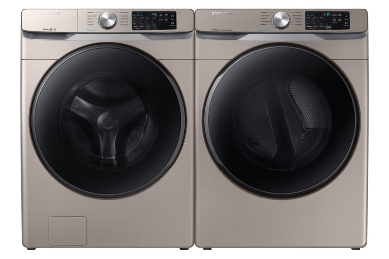 Samsung 5.2 Cu. Ft. Front-Load Washer and 7.5 Cu. Ft. Electric Dryer - Champagne