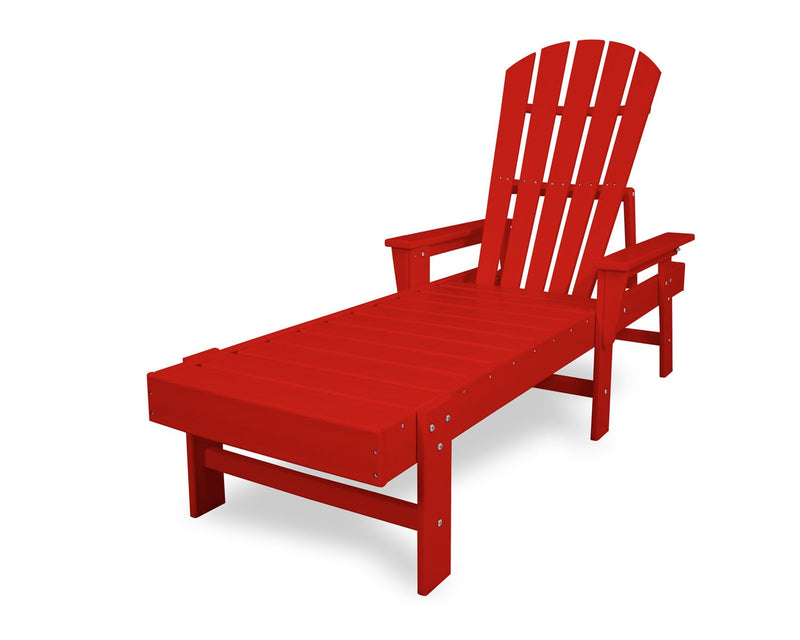 POLYWOOD® South Beach Chaise in Sunset Red