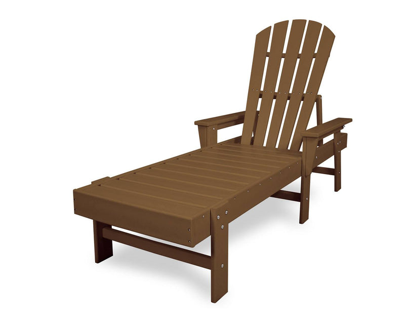 POLYWOOD® South Beach Chaise in Teak