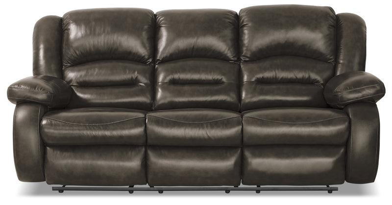 Sandford Genuine Leather Reclining Sofa - Grey