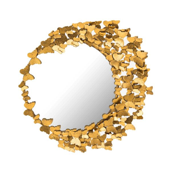 Bayne Butterfly Accent Mirror - Gold