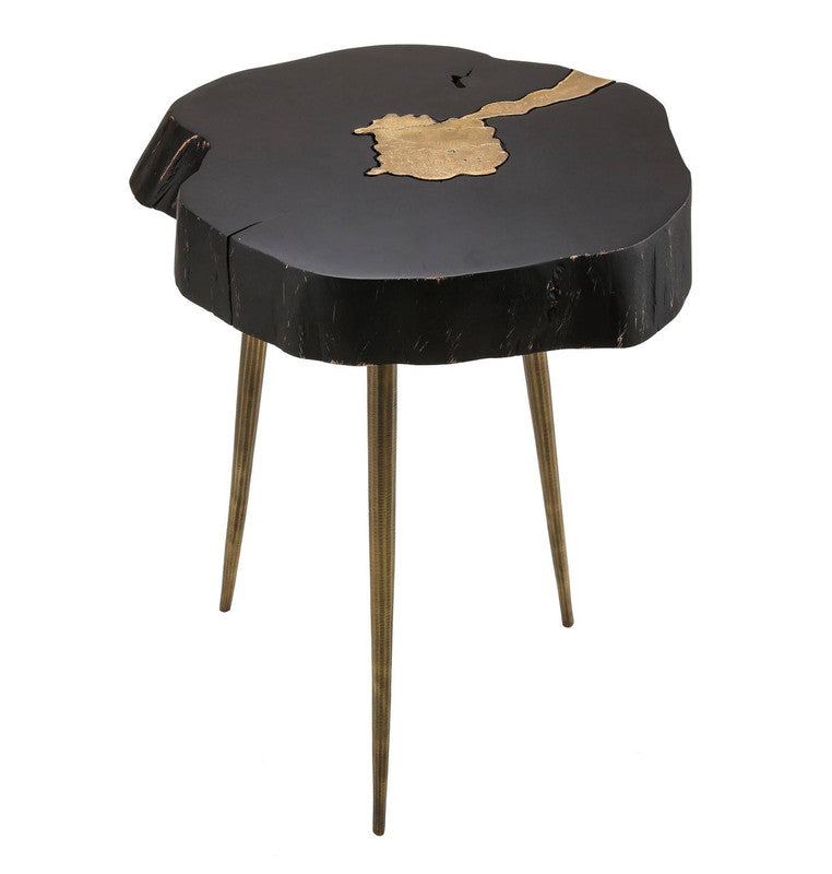 Taaibos Accent Table - Black / Brass