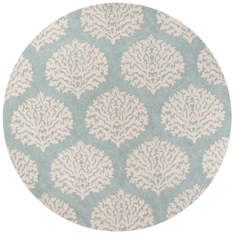 In-Out - III, 9' x 9' Round - Blue Area Rug