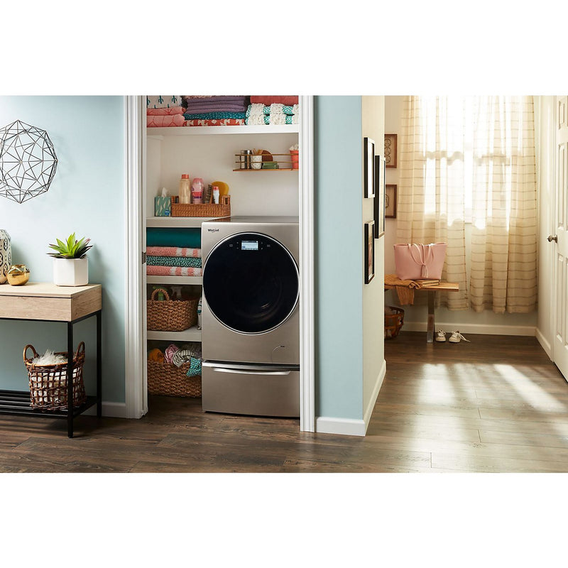Whirlpool Ventless Smart All-In-One Washer and Dryer with Storage Pedestal – Grey