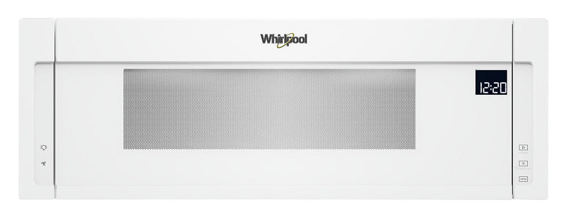 Whirlpool® 1.1 Cu. Ft. Low-Profile Microwave Hood Combination – YWML75011HW