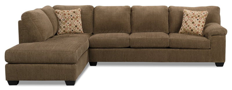 Masham Chenille 2 pc. Left-Facing Chaise Sleeper Sectional