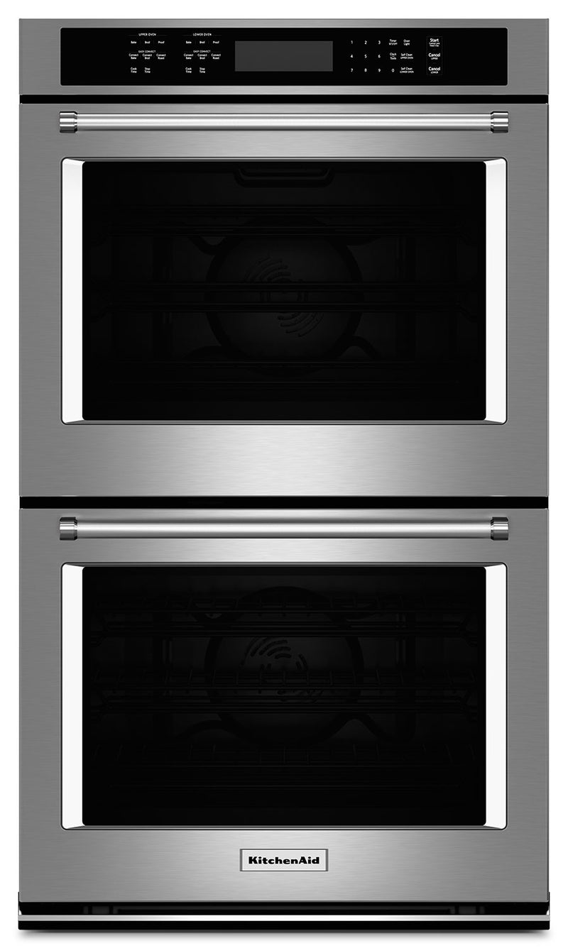 "KitchenAid 27"" Double Wall Oven with Even-Heat™ True Convection - Stainless Steel"