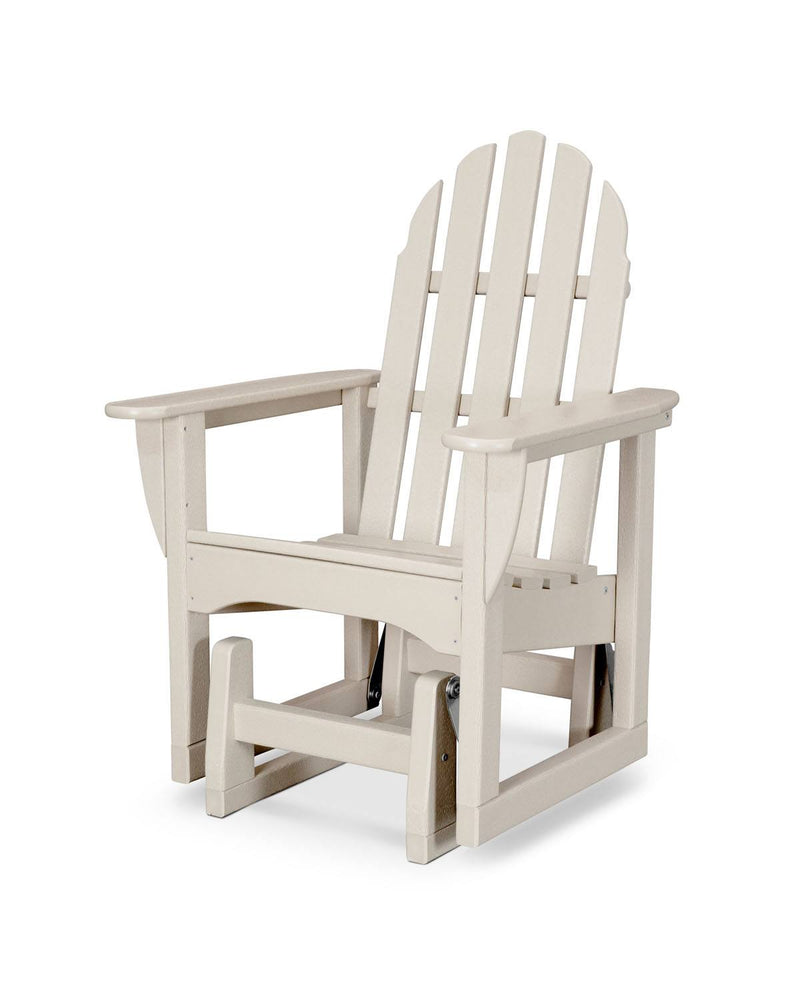 POLYWOOD® Classic Adirondack Glider Chair in Sand