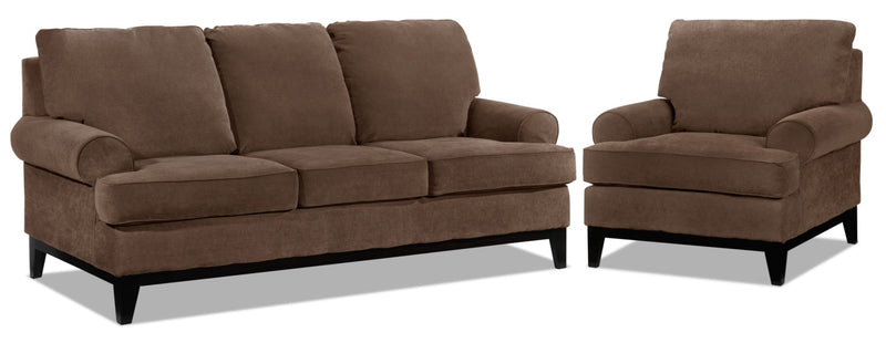 Casons Sofa and Chair Set - Coffee