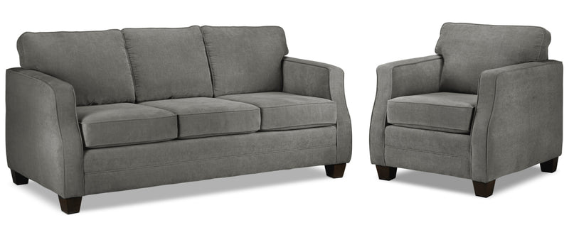 Chelsea Sofa and Chair Set - Slate