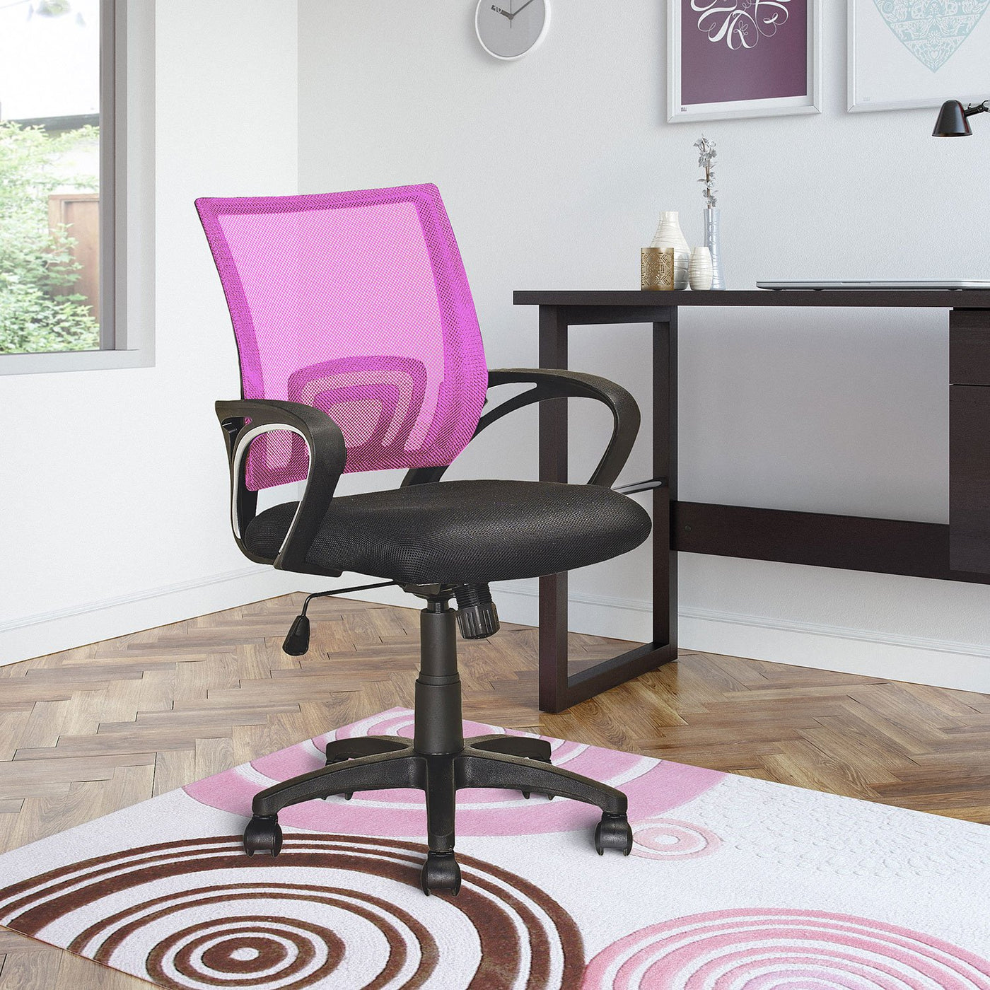 Caltra Office Chair - Pink | Furniture.ca on pink bistro chair, pink butterfly chair, pink desk, pink stackable chair, pink egg chair, pink web chair, pink office drawers, pink pod chair, pink office curtains, pink spinning chair, pink shampoo chair, pink kitchen chair, pretty pink chair, pink computer chair, pink plastic chair, pink pool chair, pink arm chair, pink office supplies and accessories, pink accent chair, pink room chair,