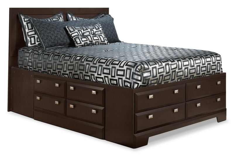 Appleton Dark Queen Storage Bed