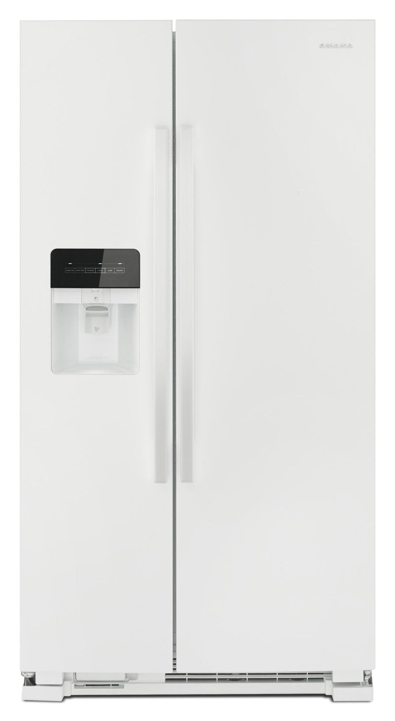 Amana 21 Cu. Ft. Side-By-Side Refrigerator with Dual Pad External Ice and Water Dispenser – ASI2175G-