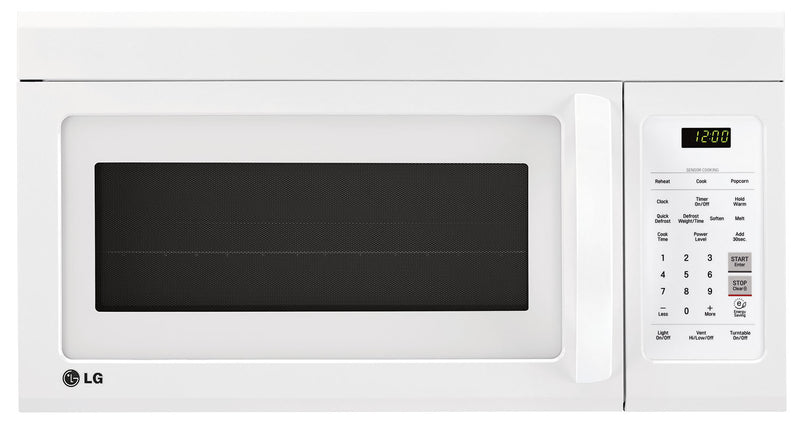 LG Appliances White Over-the-Range Microwave (1.8 Cu. Ft.) - LMV1852SW