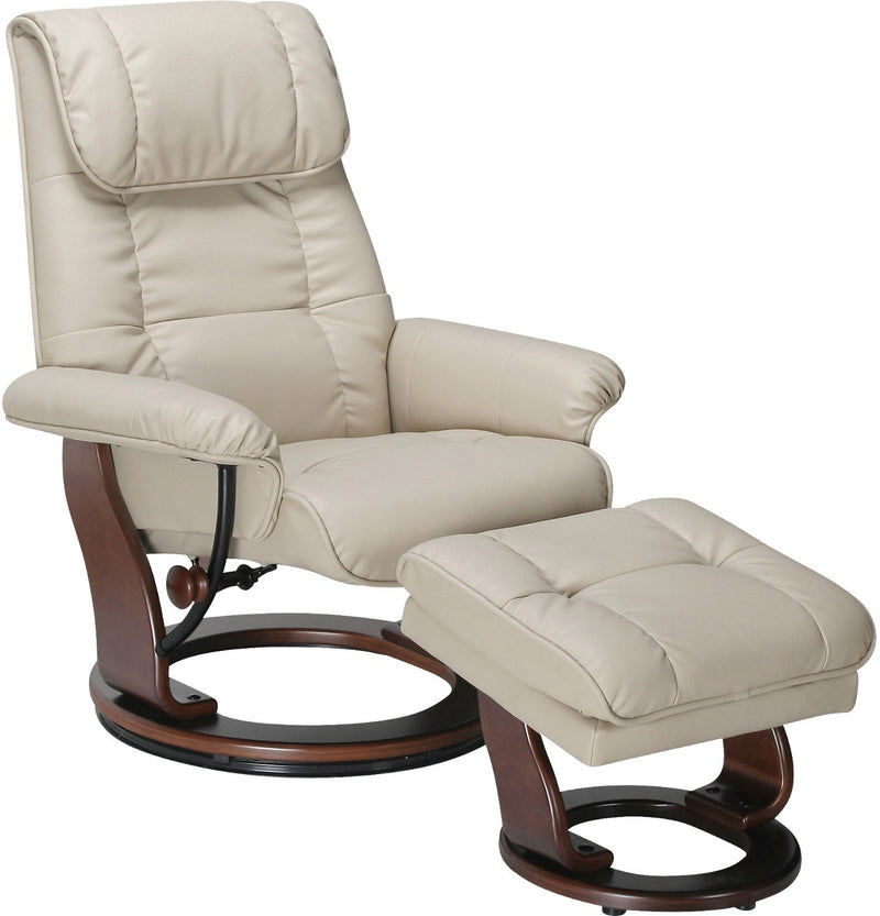 Helsingor Recliner and Ottoman - Taupe