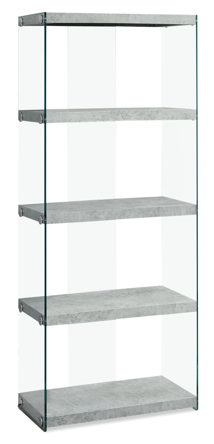 Chambly Tall Bookcase - Cement Grey