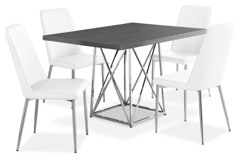 Arment 5-Piece Dining Package - White