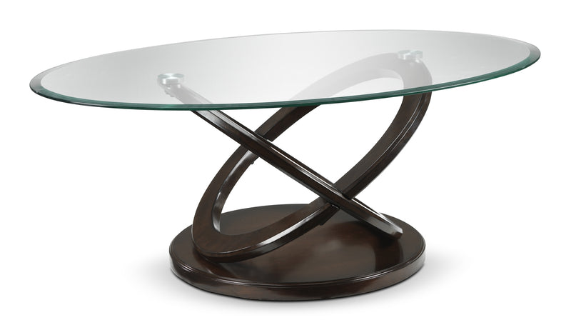 Stark Coffee Table - Brown Cherry